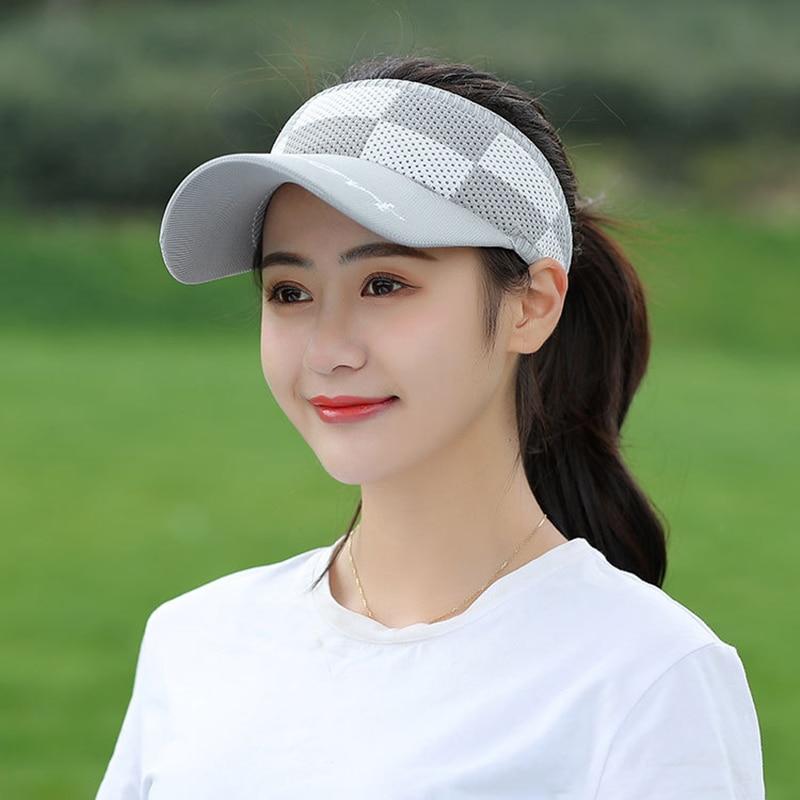 Tennis Caps Golf Outdoor Hat Sun Visor Beach Sports Travel Summer Women Men Unisex Peaked Knitted
