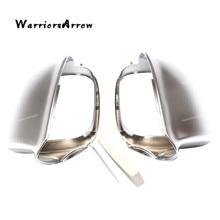 цена на WarriorsArrow Pair Rearview Side Door Mirror Cover Cap For Audi Q5 2009 2010 2011 2012 2013 2014 2015 For Audi Q7 2009 2010-2017