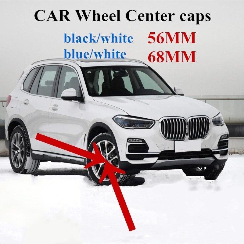 4 шт. 56 мм 68 мм 10 контактов автомобильные колпачки центральной ступицы колеса обода крышки для BMW G30 G38 E46 E30 E39 E34 E60 E36 E38 M3 M5 аксессуары