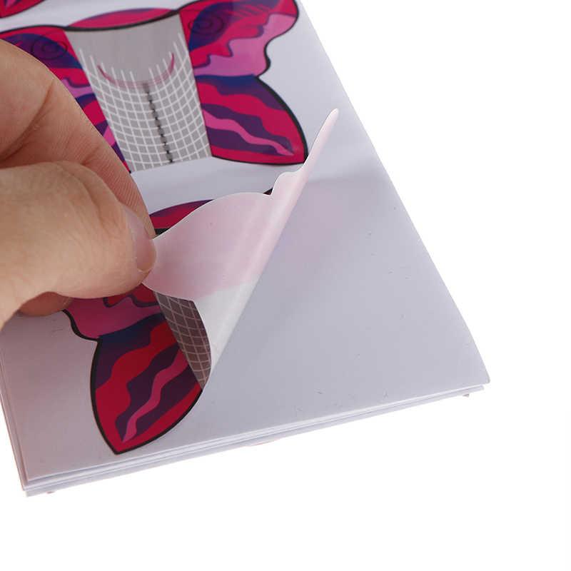 100 Buah/Banyak Butterfly Nail Art Tip Ekstensi Bentuk Kuku untuk Uv Gel Kuku Seni Kuku Alat