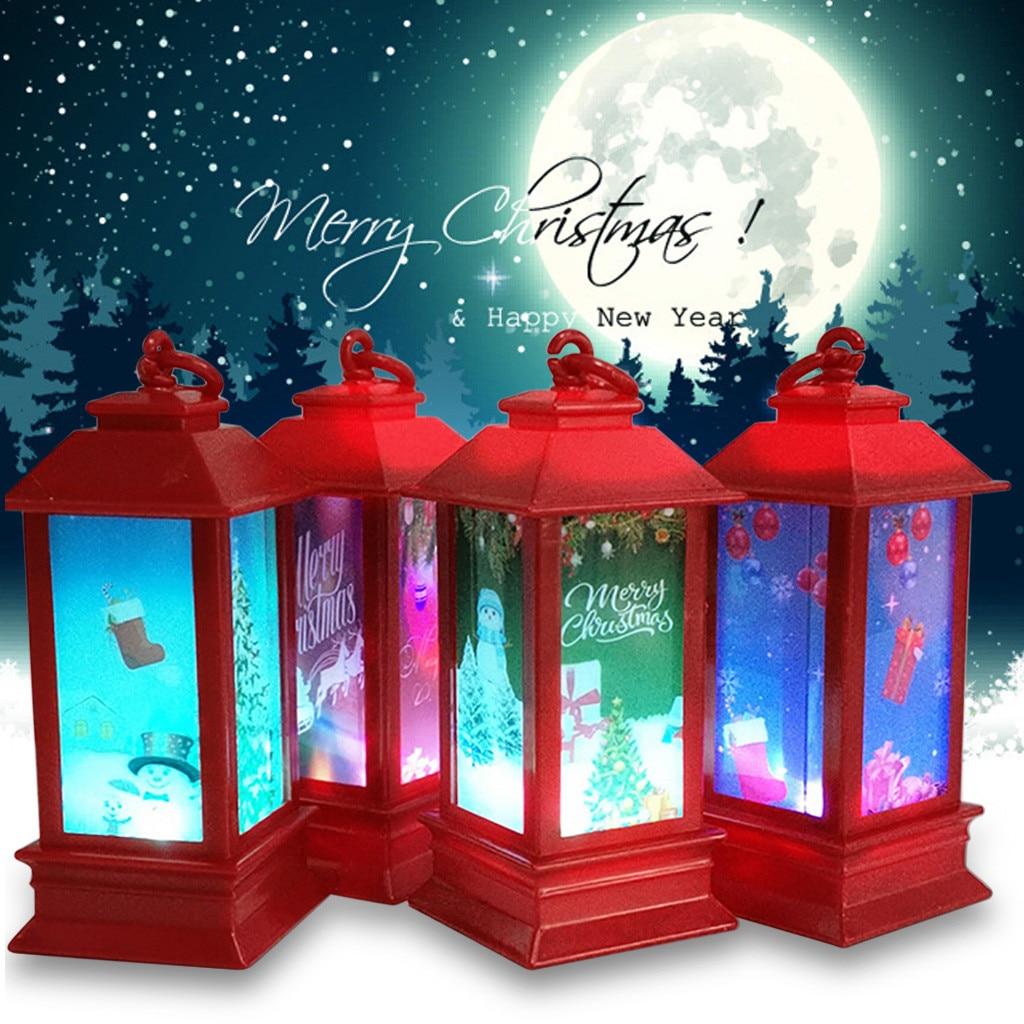CARPRIE Christmas Lights Decorations Props For Festival House Ornaments  Snowman Elk Glow LED Light Products Christmas Supplies