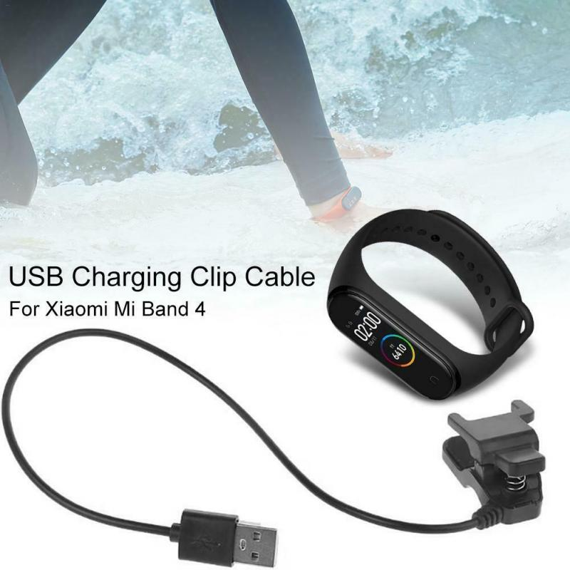 For Xiaomi Mi Band 4 NFC Charger Cord Replacement USB Charging Cable Adapter Dissembly Free For Miband 4 Charing Clip Cable