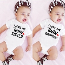 Outfits Bodysuit Romper Shower Gift SISTER Infant Baby-Boy-Girls Newborn Baby Twin Printing