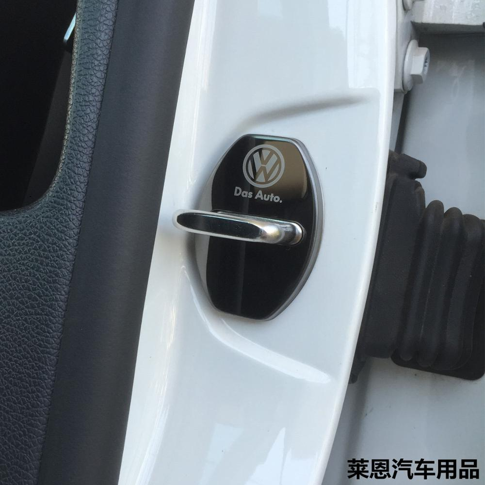 Image 2 - Car Door Lock Protective Cover Styling Decoration Accessories For VW Volkswagen GOLF 5 6 7 MK6 MK7 POLO Tiguan