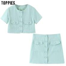 toppies summer short set green two piece set for women short
