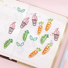 5pcs/lot Mini Cartoon Fruit Metal Bookmarks for Books Action Paper Clips for Students School Office Page Holder Kids Gift 7 pack cute animal magnetic bookmarks for books cartoon duck penguin bear check page paper clips stationery school supplies f377