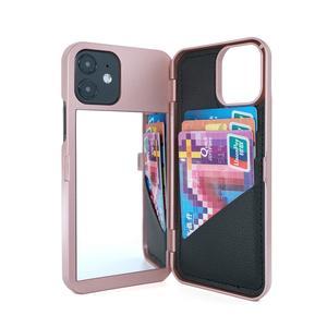 W7ETBEN бумажник с отделением для карт, косметическое зеркало, задняя крышка, флип-кейс для iPhone 12 Mini 12 SE2 XS Max XR X 6 6S 7 8 Plus 11 12 Pro Max
