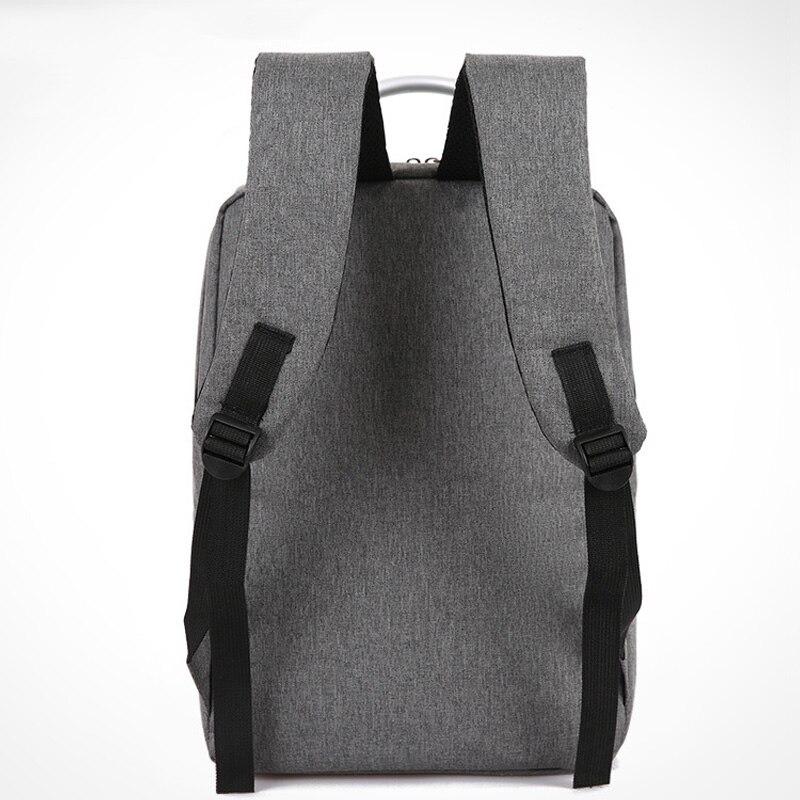 16 inch Canvas School Bags Leisure Laptop Backpack For Men Business Backpacks Men Pure Color Laptop Travel Teenage Shoulder Bag