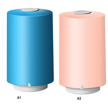 Portable Mini Electric Air Pump Automatic Compression Vacuum Pump with Bags Food Closet Organizer Vacuum Bags(China)