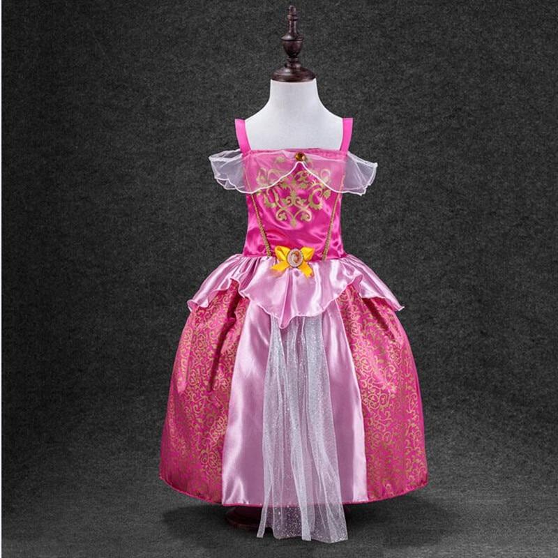 Купить с кэшбэком My Baby Girl Fashion Cotton Dress Children Clothing Girls Pony Dresses Elsa Anna Party Dresses Princess Costume Kids Clothes