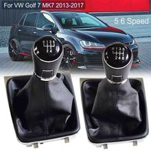 For VW Golf 7 A7 MK7 GTI GTD 2013 2014 2015 2016 2017 2018 Car 5 /6 Speed Car Gear Stick Level Shift Knob With Leather Boot
