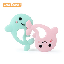 Keep&Grow 1pc Dolphin Silicone Baby Teether rodent Baby Teet