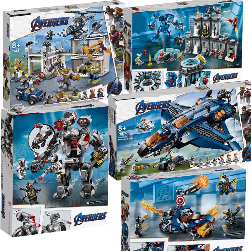 New Superheroes Avengers 4 Fit For Legoinglyes  Marvel Avengers 76131 76124 76125 76126 Figures Building Blocks Bricks Toy Gifts