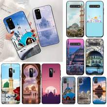 HPCHCJHM Landscape Muslim Mosque Building Bling Phone Case for Samsung S20 plus Ultra S6 S7 edge S8 S9 plus S10 5G lite 2020(China)
