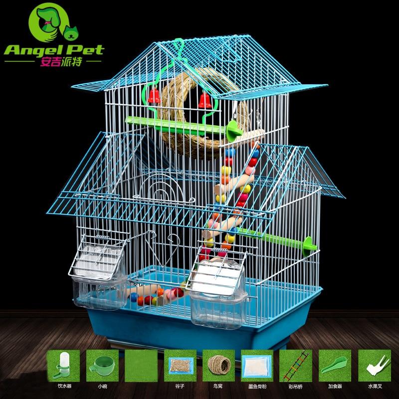 Bird Cage Tiger Skin Parrot Thrush