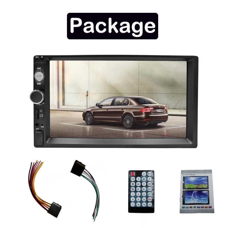 """2 Din カーラジオ Autoradio 7 """"HD マルチメディアプレーヤー 2 DIN タッチスクリーンの自動オーディオ、カーステレオ MP5 Bluetooth USB FM 7 インチ"""