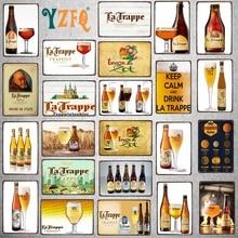 Belgian Beer Vintage  Metal  Metal Plates For Wall Bar Home Pub Art kitchen Coffee  Decor 30X20CM DU-8282A