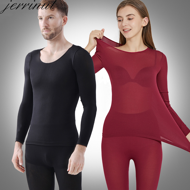 Jerrinut Thermal Underwear For WomenMen Winter Warm Long Johns Women's Thermal Underwear Set Thermo Underwear For MaleFemale