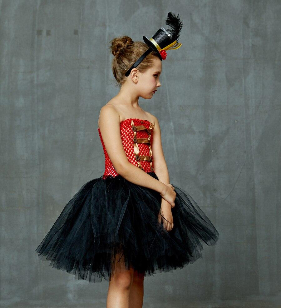 Girls Ringmaster Costume Circus Nutcracker Fancy Tutu Dress Kids Tulle Birthday Party Dress Girl Halloween Dress Up Clothes (6)