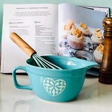 Миска для яиц винтажная миска смешивания супа салата с ручкой