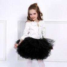 Moda meninas tutu super fofo 6 camadas petticoat princesa dança tutu saia crianças bolo saia chritsmas crianças roupas