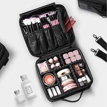 Косметичка для макияжа большая многоярусная профессиональная сумка для макияжа для ногтей Полупостоянный ящик для инструментов косметичка