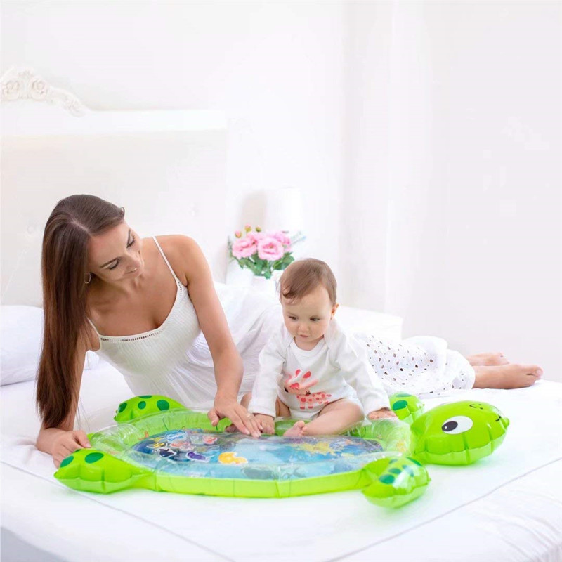 Baby Play Mat Turtle Shape Crawling Mat Double Surface Baby Carpet Rug Puzzle Activity Gym Carpet Mat For Children Game Pad