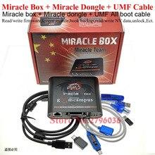 Miracle Box 2020 original + llave Miracle Dongle + UMF, todos los cables de arranque para teléfonos móviles de china, desbloqueo de reparación