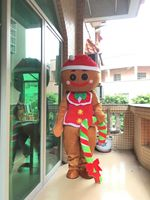 Xmas Gingerbread Man Oven Break Mascot Costume Tailor Suit Outfit Cosplay Unisex Adults Mascot Costume Santa Mascot Fancy Dress