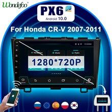 PX6 2 Din Android 10 Phát Thanh Xe Hơi Có Màn Hình Cho Xe Honda CR V 3 Lại CRV Đời 2007 2011 Autoradio Thông Minh hệ Thống Video Âm Thanh Nổi