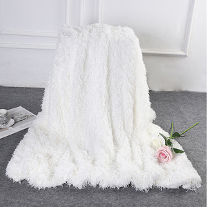 Image 4 - 2019 New Super Soft Shaggy Decorative Background Blanket Long Shaggy Fuzzy  Elegant Cozy With Fluffy  Bed Sofa Bedspread Sheet