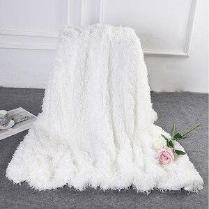 Image 4 - Новинка 2019 года, супермягкое ворсовое декоративное фоновое одеяло, длинное ворсистое пушистое элегантное уютное покрывало с пушистой кроватью, диваном, простыней
