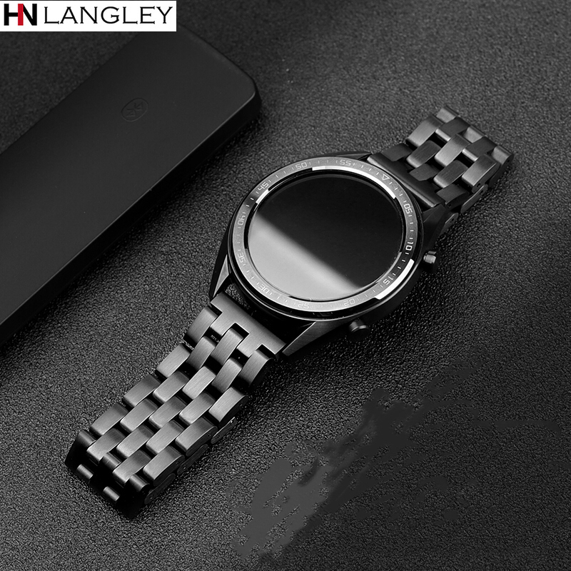 20/22 Mm Metal Stainless Steel Watch Band For Huawei Watch GT 2 Pro Magic Band Smart Watch Replacement Strap For Gear S3 Galaxy