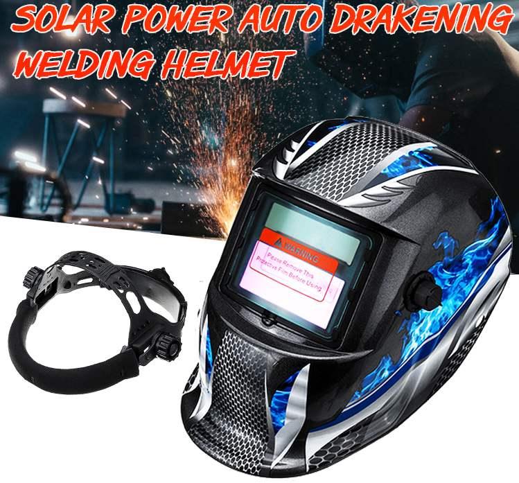 Professional Solar Automatic Darkening Welding Mask For MIG MMA TIG Welding Helmet Goggles Light Filter Welder's Soldering Work