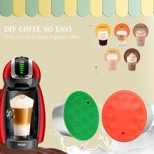 Многоразовый силиконовый зеленый чехол ICafilas, многоразовые фильтры для кофе Dolce Gusto, капсулы для молока, «сделай сам», легкий кофе