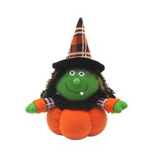 Halloween Witch Black Cat Plush Stuffed Pumpkin Dolls Decorations