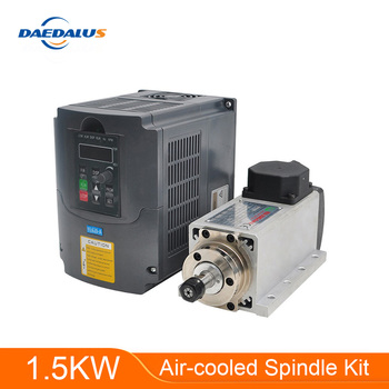 Бесплатная доставка шпинделя с ЧПУ 1,5 кВт с воздушным охлаждением шпинделя ER11 фрезерный двигатель 220 В VFD инвертор конвертер контроллер для ...