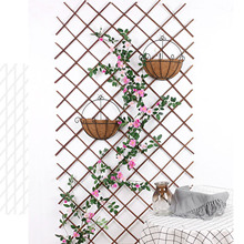 Stand Trellis Flower-Decoration Wooden Fence Plant Garden-Ornamen Retractable Indoor