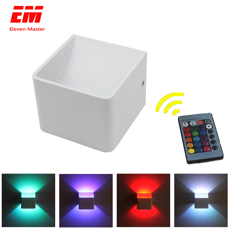 RGB LED Wall Lamp Effect With Remote Controller Wall Light Colorful Wandlamp For Party Bar Lobby KTV Home Decoration ZBD0025