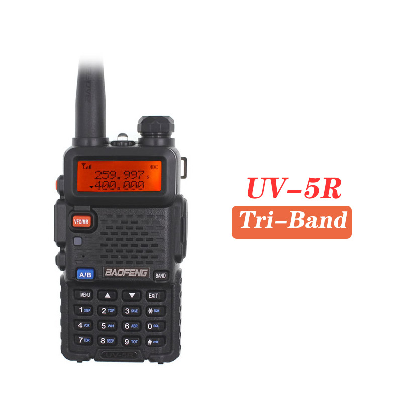 Baofeng UV-5R Tri-band Handheld Walkie Talkie UHF VHF 136-174MHz 220-260MHz 400-520MHz 3 Band BF-R3 UV 1.25M Upgrade Of UV5R