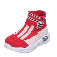 2019 new fabric mesh children's socks shoes boys and girls sports casual shoes casual socks boots trendy children's shoes fall 2019 new breathable casual shoes boys and girls color matching sports shoes children flyknit socks and shoes double color