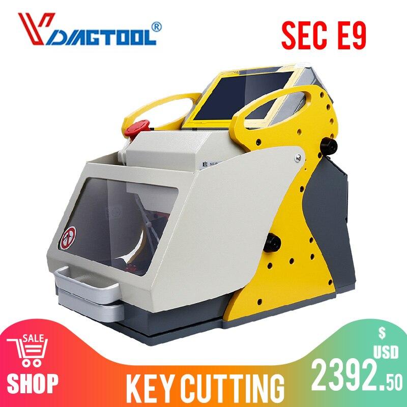 2020 Original herramienta automática para cerrajero segundo E9 automática del CNC máquina de corte de llaves 4 abrazadera mismo milagro A9 clave de múltiples Languag