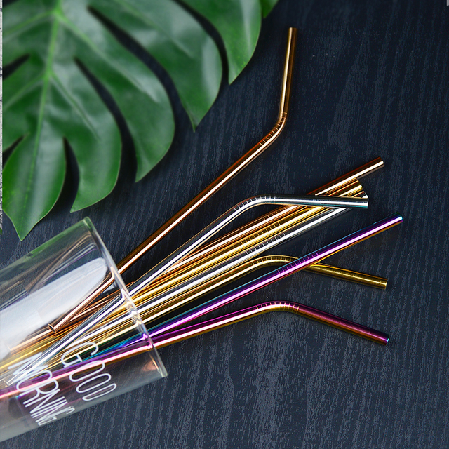 50pcs/Set Eco Friendly Metal Straw