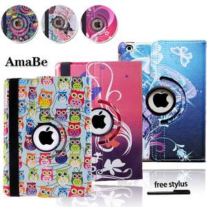Case Apple iPad Auto-Awake-Cover Smart-Sleep for 2/3/4 Drop-Resistance 360-Degree Rotating-Leather