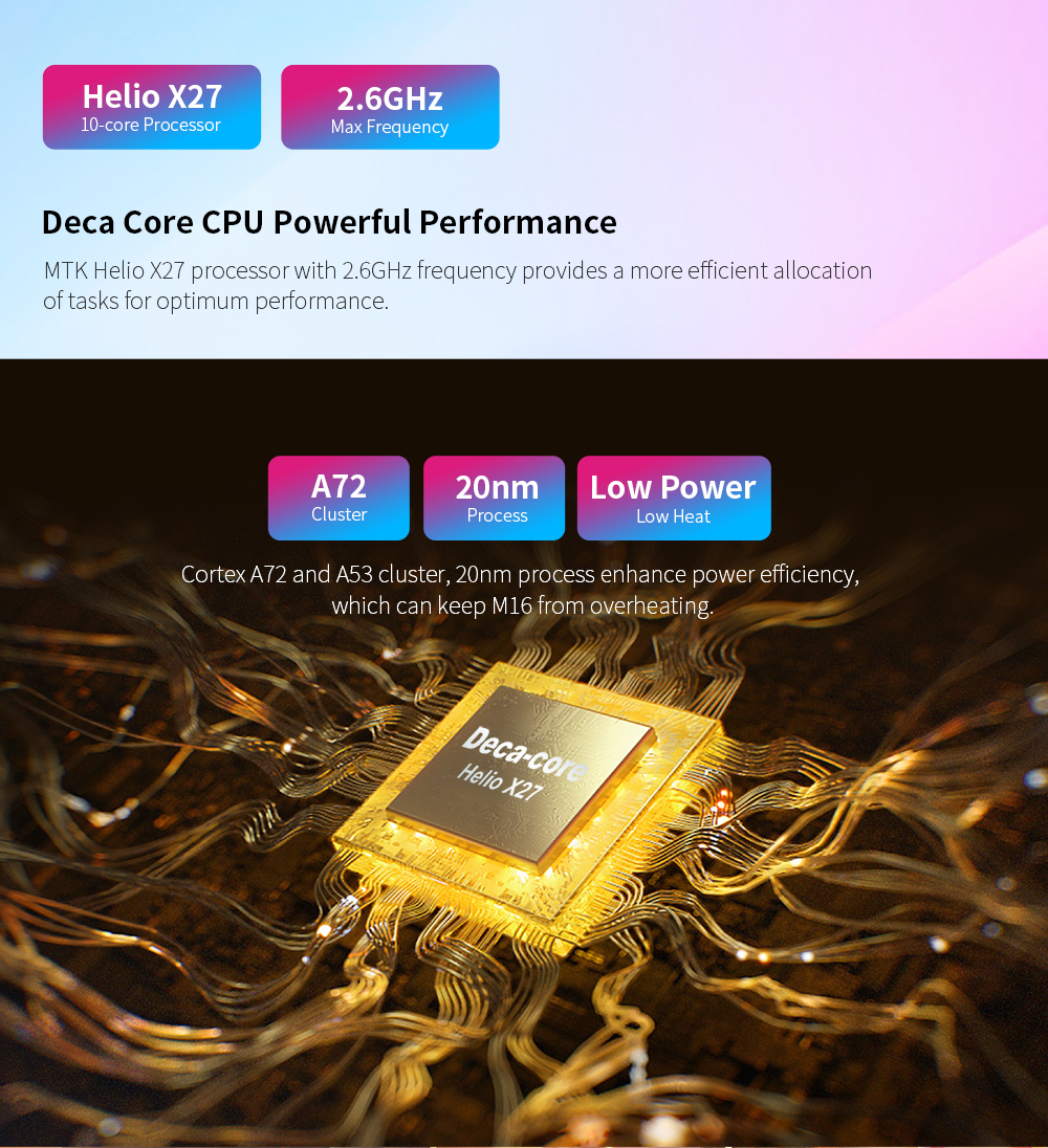 Teclast M16 Tablet 11,6 pulgadas 4G Phablet MT6797 (X27) Android 8,0*1920*1080, 2,6 GHz decoración CPU 4GB 128GB 8.0MP + 2.0MP Cámara Dual - 5