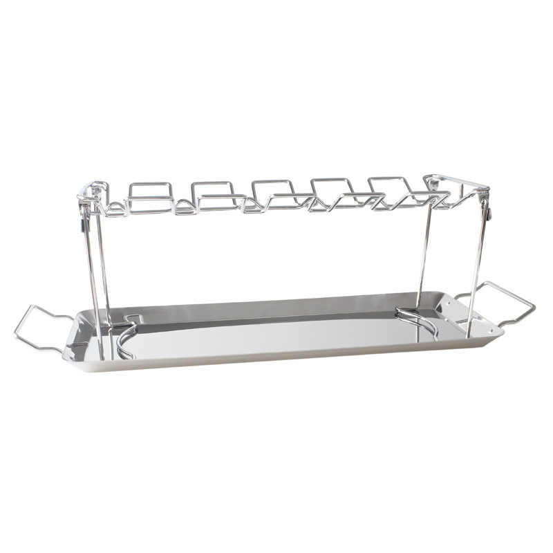 Folded roast chicken leg rack with tray tray roast chicken rack barbecue tray barbecue rack BBQ barbecue utensils