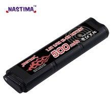 Nastima 6s 2/3n 7.2v 500mah ni-mh bateria para cm030 cm121, cm122, marui 18c, p8, m93r aep aeg m81, m84, & tm aep airsoft armas brinquedos