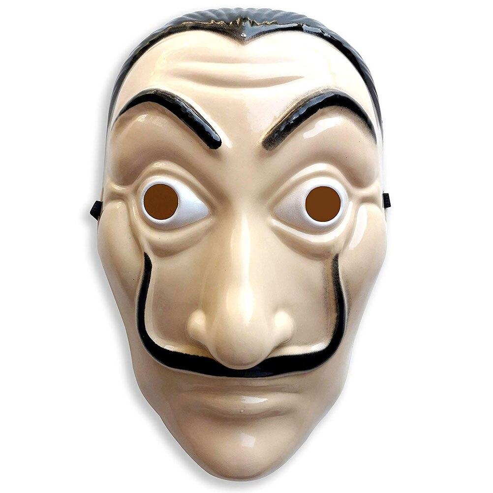 Party Beard Masks Dali Plastic Halloween Paper House La Casa De Papel Cosplay Decoration Masquerade Funny Tools Novel Masks