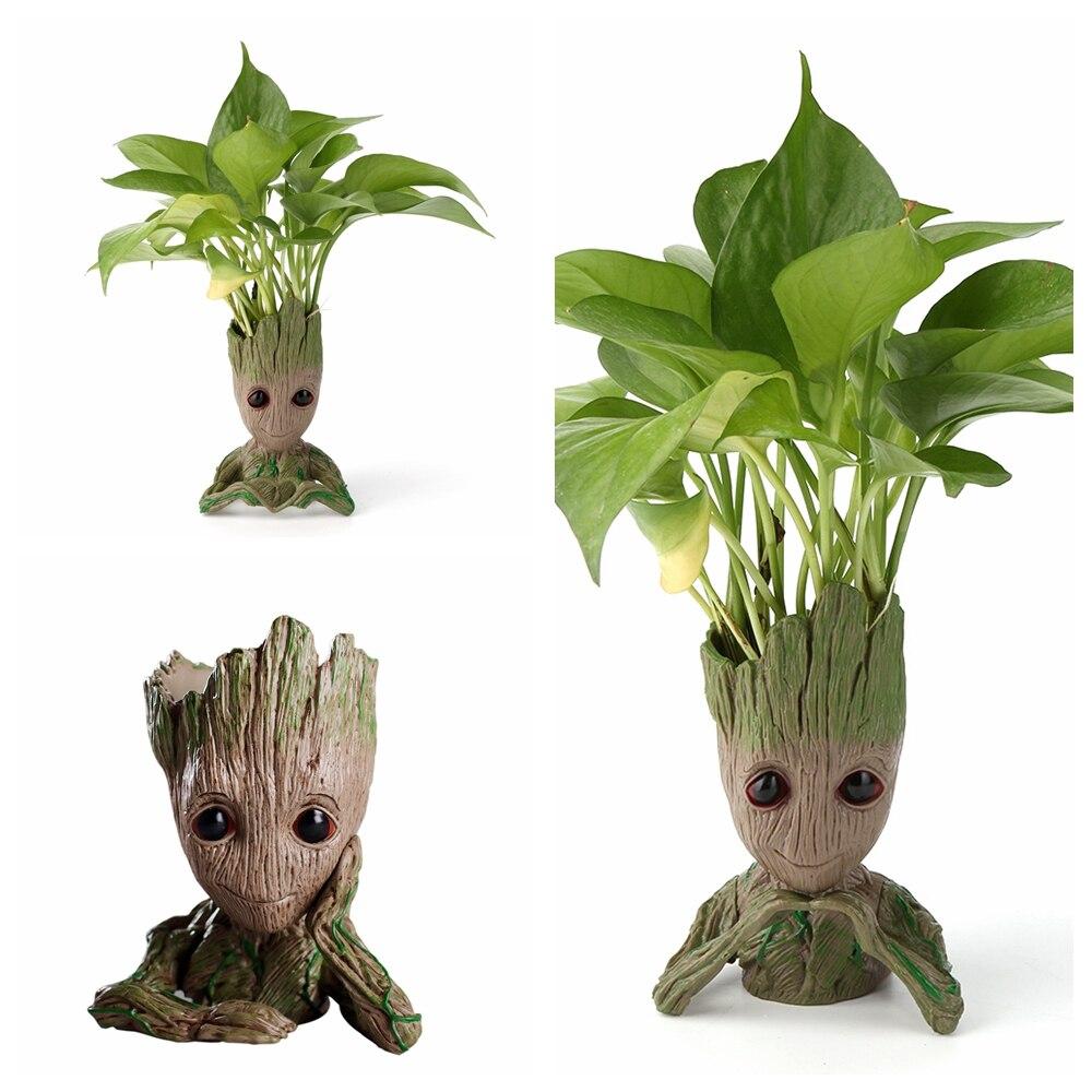 Baby Groot Flowerpot Flower Pot Planter Cute Cartoon Pen Holder Kids Toy Tree Man Cute Model Doll Figure Toy Pen Pot