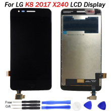 цены на X240 LCD For LG K8 2017 Display with Frame Touch Screen Digitizer Assembly Replacement Parts 100% tested 5.0 inch screen X240 K8  в интернет-магазинах